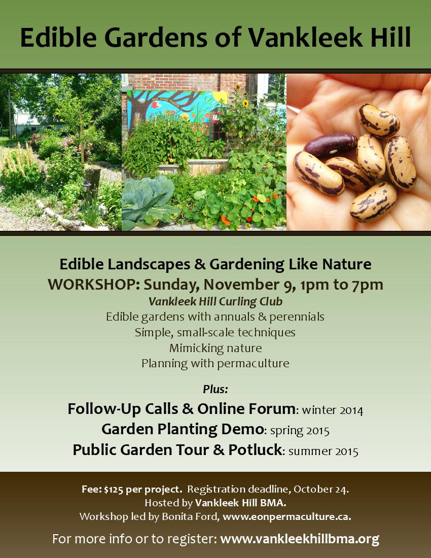 Edible Gardens of Vankleek Hill poster