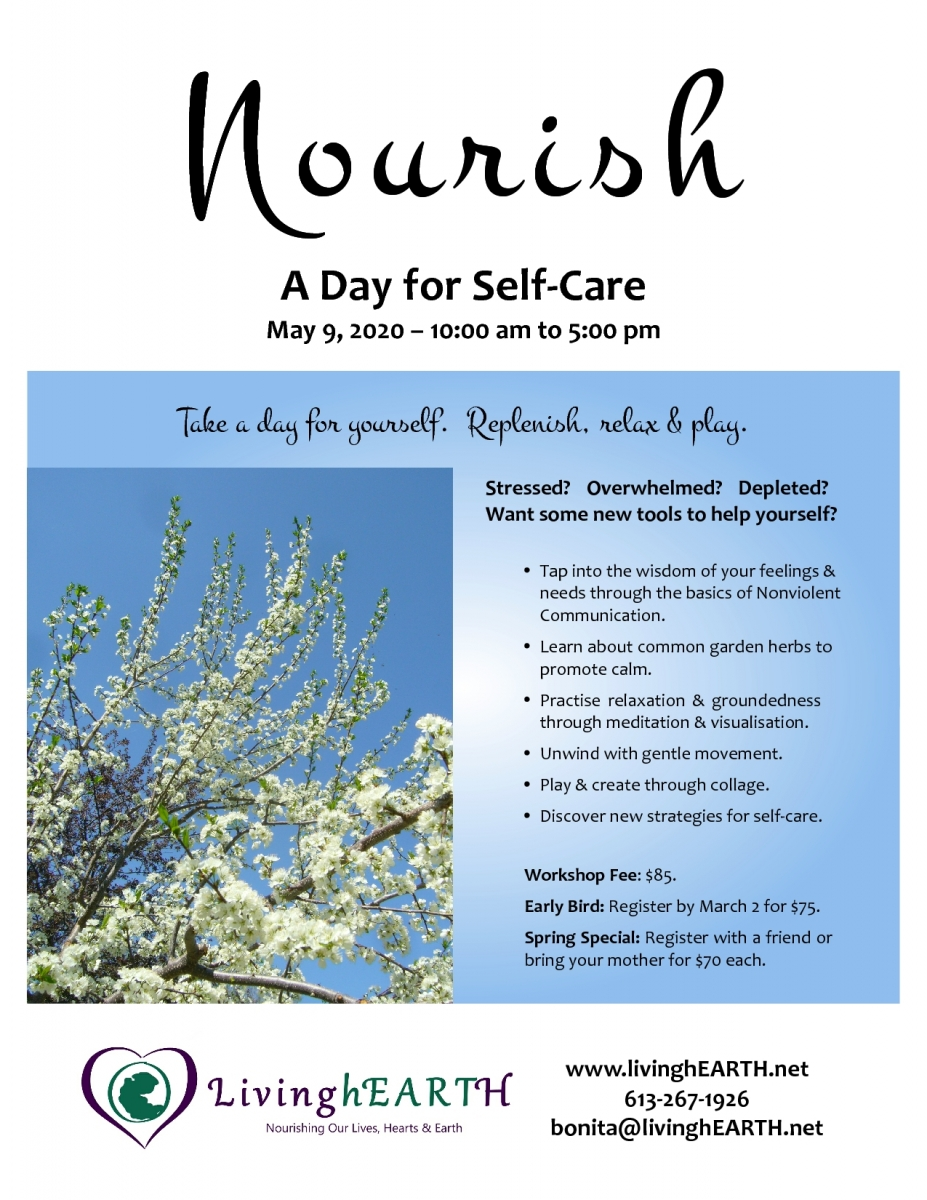 Nourish: A Day for Self-Care flyer
