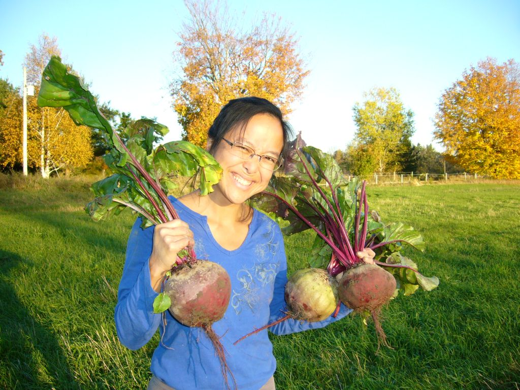 Bonita with big beet harvest