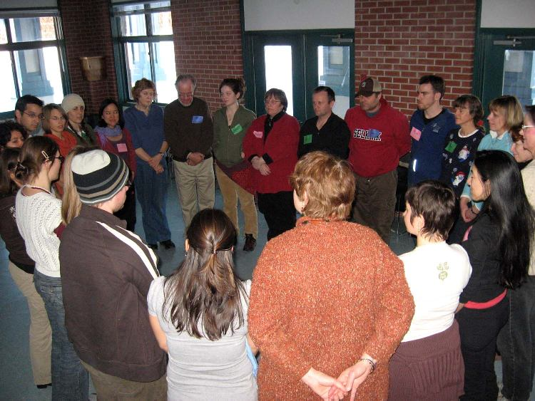 circle of people during workshop