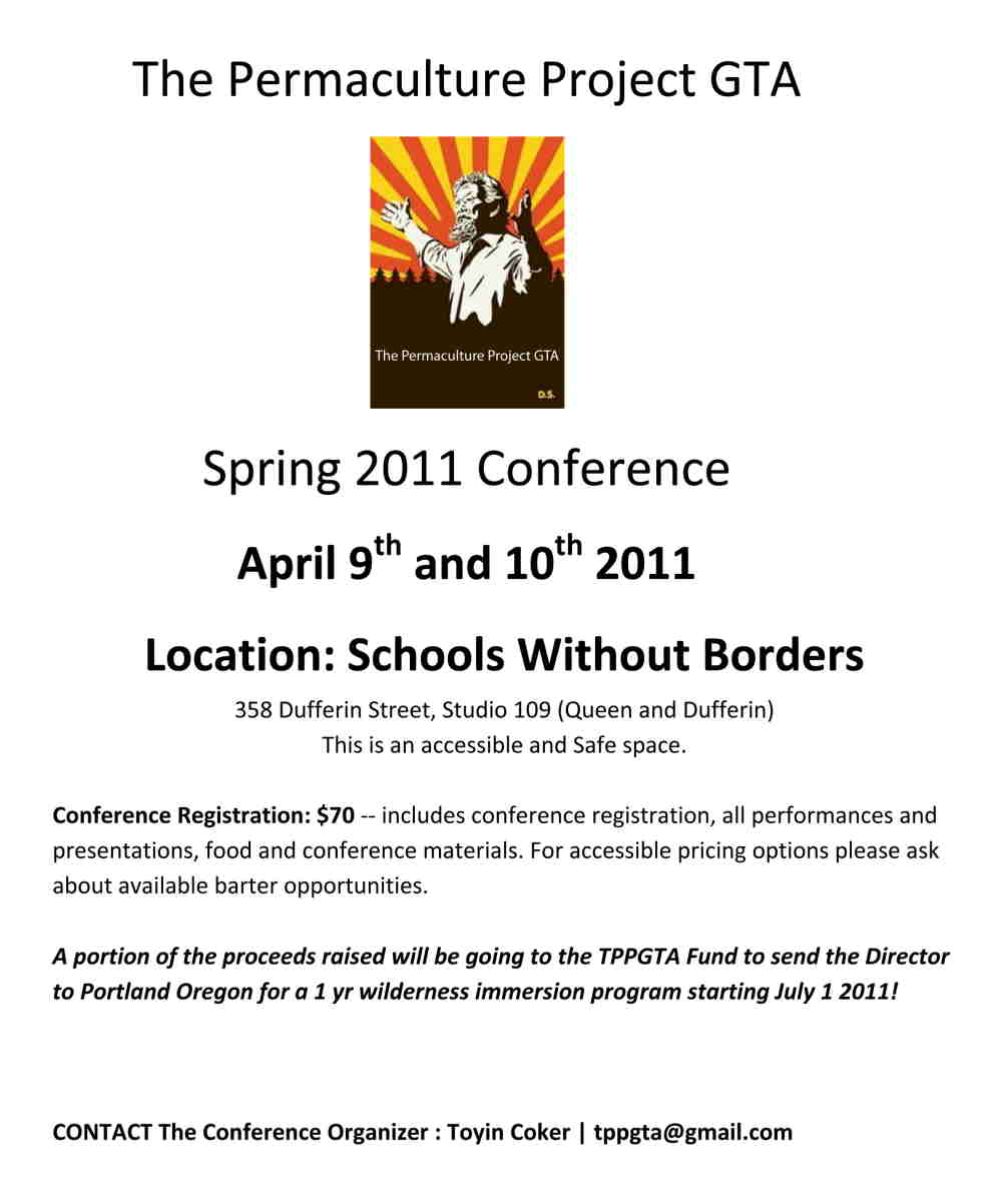 permaculture GTA conference poster