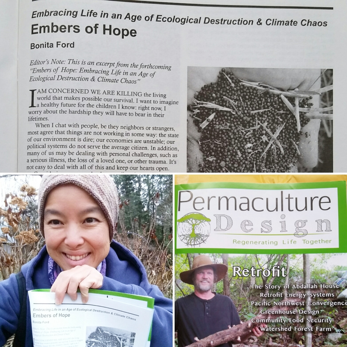 """Embers of Hope: Embracing Life in an Age of Ecological Destruction and Climate Chaos"" book excerpt in Permaculture Design Magazine"