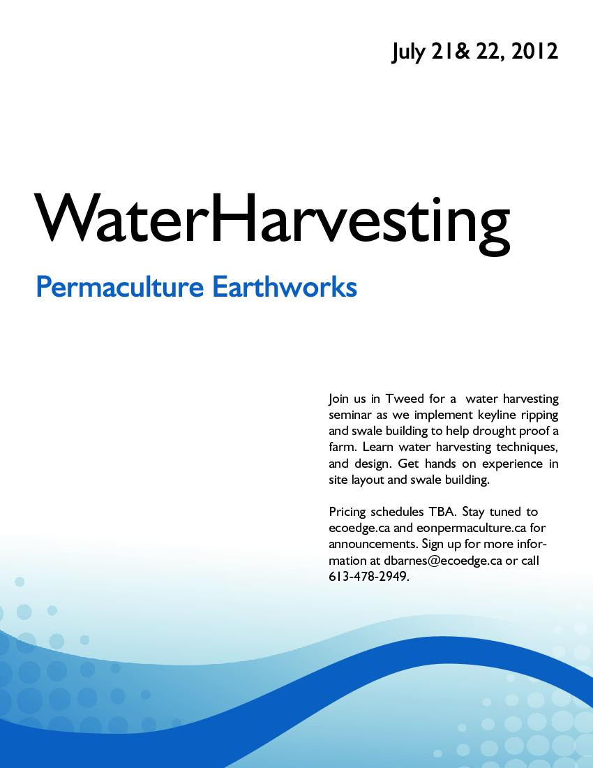 water harvesting earthworks poster